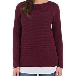 NWOT Hilary Radley Crew Neck Blouse/Sweater